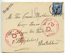 GREAT BRITAIN 1915 2½d /Sennelager Germany - `POST FREE/ P.C./ PRISONERS OF WAR`