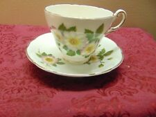 REGENCY English Bone China Floral  Gold Gilt Tea Cup Saucer