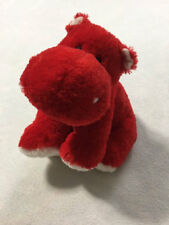 Ty Classic Lovely Hippo Red White Heart Hippopotamus Plush Stuffed Animal 2007