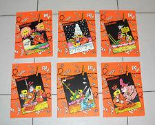 Serie completa 6 Quaderni  STURMTRUPPEN Bonvi Auguri Mondadori 1982 NUOVI