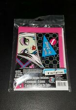 Brand New (8) Monster High Birthday Invitations & Seals, Stickers, Envelopes