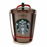 New Starbucks 2018 Glitter Steel Cold Cup Holiday Christmas Tree Ornament