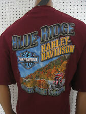 2XL nwt Mens HARLEY DAVIDSON Blue Ridge Burgundy Tee Shirt