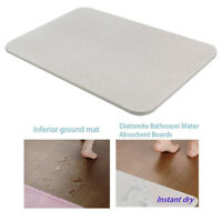Diatomite Mat Bath Anti-slip Absorb Dry Carpet Water Absorption Foot Pad Rug US