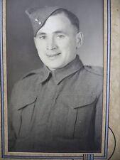 Antique B&W Photo Wedge Cap Hat Portrait Canadian Military Young Man