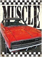 More details for muscle car large steel sign 400mm x 300mm  (og)