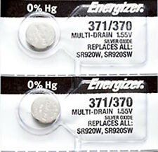 2 x Energizer 371 Watch Batteries, 0% MERCURY equivilate SR920SW