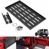 Black Tailgate Panel Rear Shelf Storage Set For Jeep Wrangler JK 2/4 Door  -