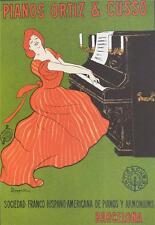 Pianos Ortiz Cuzzo Vintage Poster Fine Art Lithograph Leonetto Cappiello S2