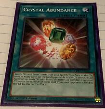 Yugioh Crystal Abundance LDS1-EN106 Common Mint Condition x3