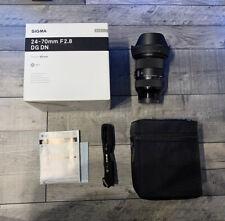 Sigma 24-70mm F2.8 DG DN Art Sony E Mount Full Frame FE Lens