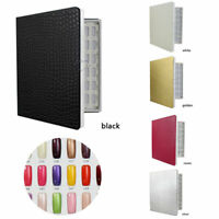 120/160/216 Colors Nail Art UV Gel Polish Tips Display Book Chart Salon Tools