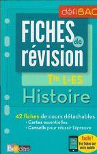 TERMINALE L-ES HISTOIRE FICHES DE REVISION Bac Bordas
