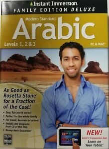 Learn Arabic Instant Immersion Family Edition Language  Levels 1-2&3 PC & Mac