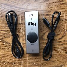 Irig Pro Interface For iPhone, Android, Mac Or PC W/Lightning & Android Cables