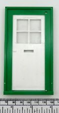 Dolls house door - georgian style - white & green plastic for 110x50 mm opening