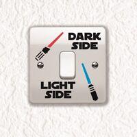 Star Wars Dark Light Side Switch Sticker Vinyl Decal Child Room Light Switch V3