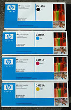 HP C4149A +C4150A + C4151A + C4512A = FULL SET OF 4 COLOURS- MINT GENUINE SEALED