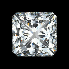 10 X 10 Mm 4.70 Carat Full White Square Radiant Cut Loose Moissanite For Ring