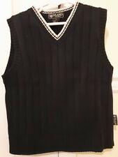 Eland Boys Navy Blue V-Neck 100% Cotton Knit Sweater Vest - Size 6 -
