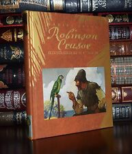 Robinson Crusoe by Defoe Illustrated by Wyeth New Deluxe Hardcover Gift Edition