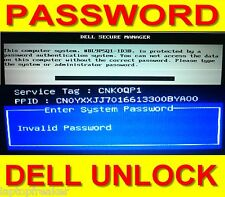 Dell contraseña sistema admin BIOS password Inspiron PPID error 23x 16x 8x digits