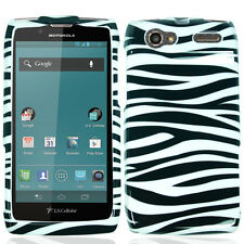 For Motorola Electrify 2 XT881 HARD Protector Case Snap On Phone Cover Zebra