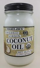 Trader Joe's Coconut Oil - Unrefined -  Extra Virgin Organic 16 fl oz