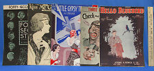 Vintage Sheet Music 1930s Graphic Covers Ben Bernie Amos & Andy More USA 5 Lot