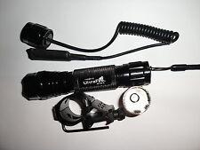 45 degree Mount TACTICAL Cree CR123A Flashlight Light QD remote pressure switch