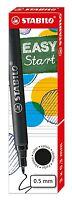 3 x Stabilo Refills: Fits Stabilo EASYoriginal Rollerball 0.5mm - Black / Blue