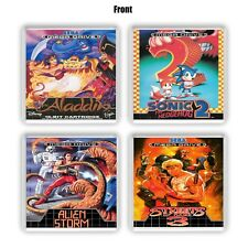 Sega MegaDrive / Genesis Retro Cup Coasters Sonic 2 Streets Of Rage Gaming Gifts