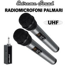 SET 2 Radio Microfoni PALMARI UHF Wireless PROFESSIONALI Per Canto KARAOKE DJ