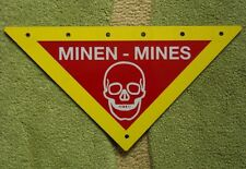 MINEFIELD Triangle Metal Sign Marker