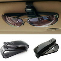 Black Auto Car Vehicle Visor Glasses Sunglass Ticket Card Holder Clip Universal