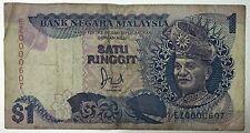 EZ 0000607  Jaffar $1 prefix banknote nice low nos.