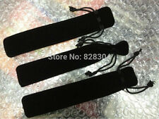 20pcs/lot black Velvet pen bag pen pouch pencil case with rope black
