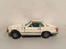 CORGI TOYS MERCEDES BENZ 350 SL WHITE WHIZZWHEELS EXTREMELY RARE!