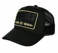 SikSilk Washed Cotton Mesh Trucker Hat - Black - Mens Cap - BNWT Sik Silk