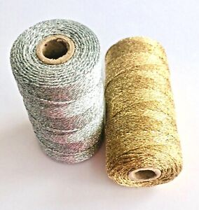Gold or silver metallic bakers twine x 10m * Festive twine * Bling string *