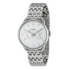 Fossil Tailor Multi-Function White Dial Stainless Steel Ladies Watch ES3712