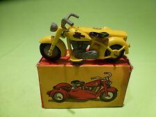 TEKNO DENMARK 764  HARLEY MOTOR CYCLE + SIDECAR - LEEUWENZEGEL - DUTCH PROMO GIB