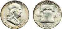1953-S Franklin Half Dollar Brilliant Uncirculated- BU