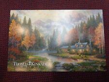 Thomas Kinkade Postcard Evening at Autumn Lake Vault