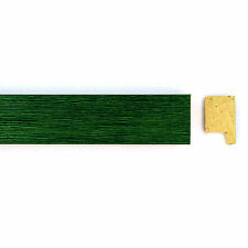 4 x 3ft lengths 22mm Green Wood Picture Frame Moulding M117 - 12' / 3.6m