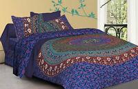 Indian Mandala Traditional Bohemian Duvet Quilt Cover Cotton Bedding Set New