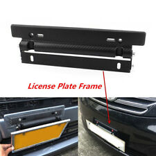 Carbon Fiber Look License Plate Frame Adjust Angle Mount Bracket fr Japanese Car