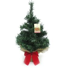 40cm Burlap Green Small Table Top Artificial Christmas Tree Office Decoration