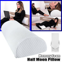 "20.5"" Long Half-Moon Bolster Pillow Memory Foam Neck Leg Knee Back Support Relax"