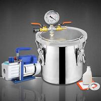 2 Gallon Vacuum Chamber & 4 CFM Single Stage Pump Degassing Silicone Kit